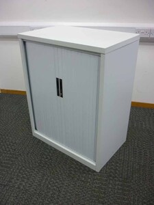additional images for 1050mm high white tambour cupboard