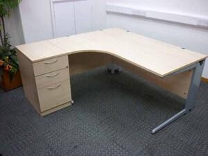 additional images for Eurotek 1600x1200mm maple desk & pedestal