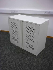 additional images for 850mm high white perforated door cupboard