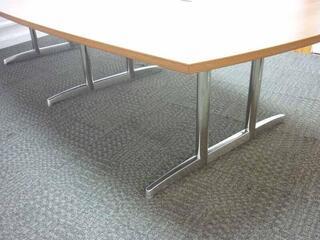3200 x 15001200mm walnut barrel shape table