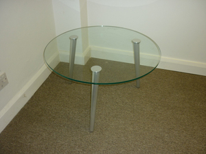 additional images for Glass 3 leg coffee table