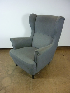 additional images for Grey wing back chair