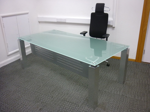 additional images for 2000x1000mm glass executive desk