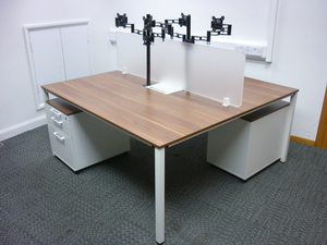 additional images for Sedus Temptation four walnut team tables, per person