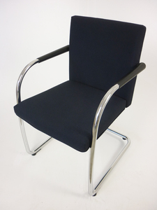 additional images for Vitra Visasoft blue/grey fabric meeting chair