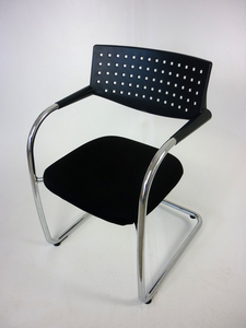 additional images for Black Vitra Visavis meeting chairs