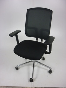 additional images for Black mesh back Boss Design Felix chairs