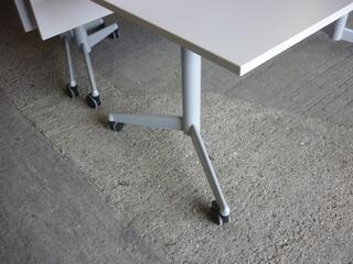 White WerndlSteelcase flip top tables