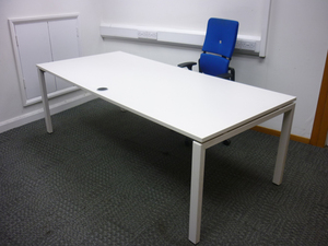 additional images for 2200 x 1000mm white executive desk