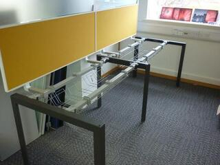 Herman Miller Layout Studio white 1200 amp 1600mm bench desks