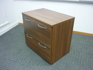 additional images for Sven walnut 2 drawer side filer