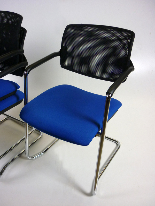 additional images for Blue mesh back OCEE Design Alina stacking meeting chair