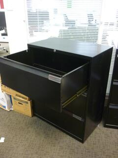 Black Bisley 3 drawer side filer