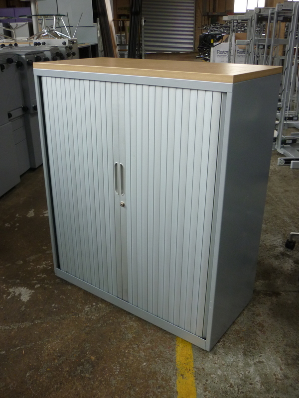 additional images for 1180mm Bisley silver tambour cupboard