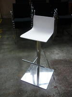 additional images for White height adjustable stools