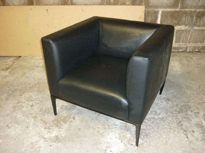 additional images for Walter Knoll Jaan 780 black leather armchairs