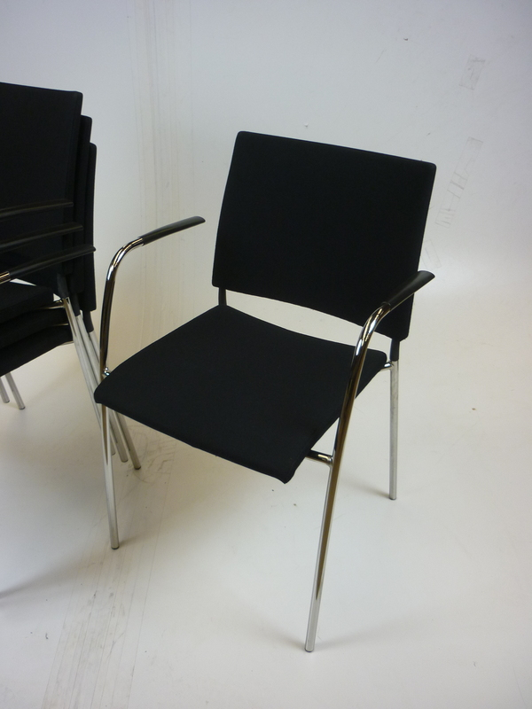 additional images for Black Lammhults Spira stacking chairs