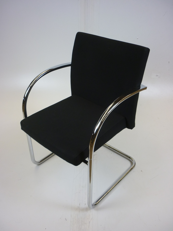 additional images for Black Artifort cantilever meeting chairs