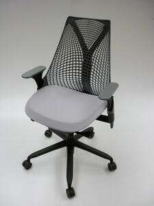 additional images for Light grey Herman Miller Sayl chairs