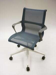 additional images for Berry Blue Herman Miller Setu chairs