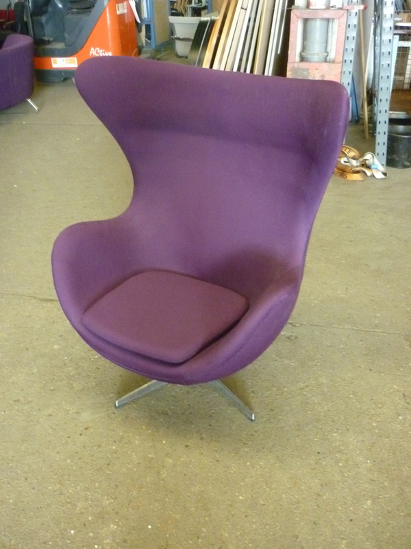 additional images for Purple egg swivel chair