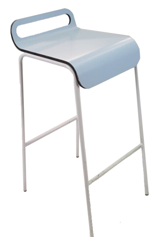 additional images for Light Blue Wooden Stools Metal Legs