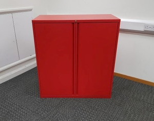additional images for KI red 1180mm high double door cupboard