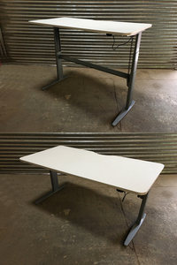 additional images for 1400 &1600mm electric sit/stand desks with choice of tops