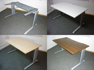 additional images for Task frame 1400w x 800d mm desks with new tops CE