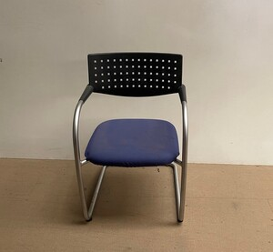 additional images for Blue and Black Vitra Visavis meeting chair