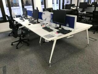 Mobili Vega white 1120mm bench desks
