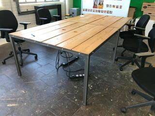 Bespoke designer bench desks per person