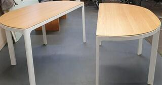 Oak  white conference table