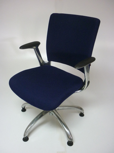additional images for Verco V Smart blue fabric meeting chair