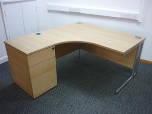additional images for Phase 1400mm oak radial workstations