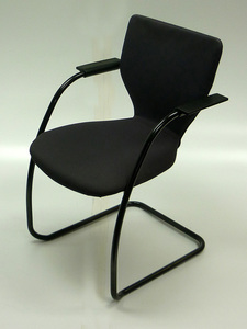 additional images for Orangebox X10 black stackable meeting chairs
