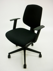 additional images for AS NEW Black Nomique Tally 2 operator chairs with arms