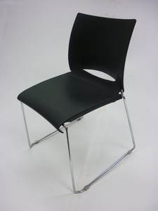 additional images for Patra Icon black plastic stacking chairs