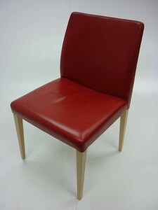 additional images for Red leather Poltrona Frau Liz chairs