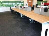 additional images for Knoll Plateau 8 person oak bench desks