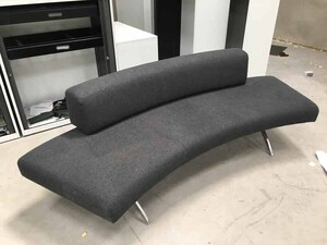 additional images for Grey curved sofa