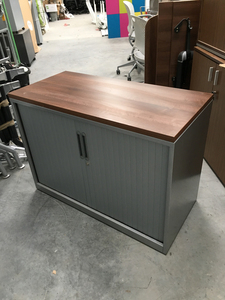 additional images for Desk high Triumph silver/walnut tambour cupboard