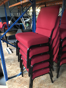 additional images for Red stacking church chairs