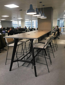 additional images for Wenge 3200x1000mm poseur table & 8 stools