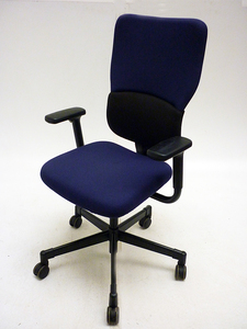 additional images for Steelcase Let's B blue & black task chair