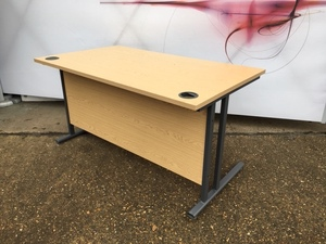 additional images for Light oak 1400x800mm desks