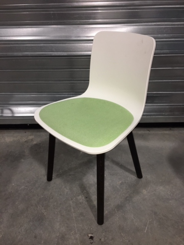 additional images for Vitra Hal Wood in white/green