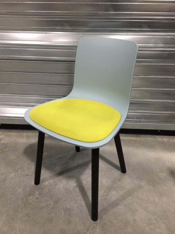 additional images for Vitra Hal Wood in blue/lime green