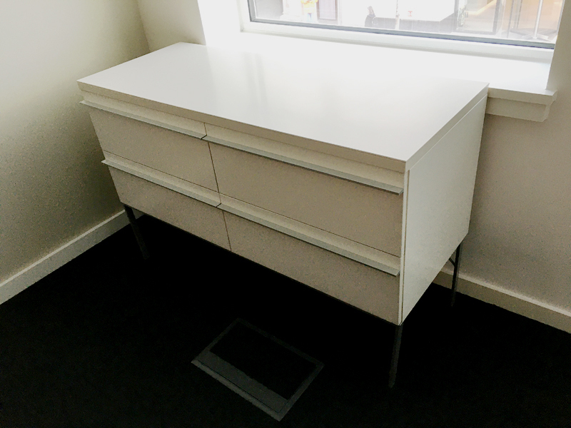 additional images for 1170mm wide white credenza