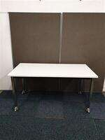 additional images for White Top Chrome Legs Table